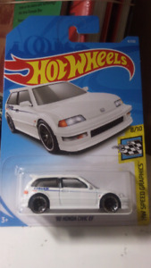 2018 Hot wheels 90 Honda Civic EF white