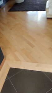 Engineered Flooring Maple/Birch. Approximately 450 sq/ft