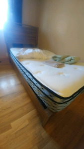 Twin size bed and frame