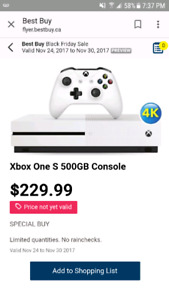 New Xbox One S only $229.99!!
