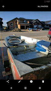 14' aluminum boat and trailer