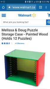 Melissa and Doug puzzle storage