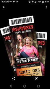Nightmares Fear Factory tickets on sale.