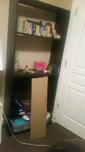 4 adjustable shelves shelving unit (black)