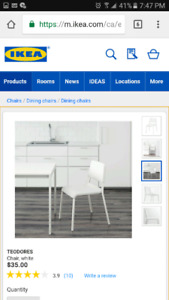 Ikea chairs/chaises