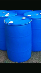 55 gallon BLUE/BLACK OR WHITE drums
