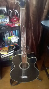 5 String Fretless Acoustic Bass Guitar