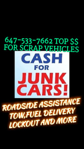 Auto Recyclers 6475337662 Scrap Car Junk Car Rusty car BIG CASH