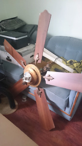 Large ceiling fan with remote