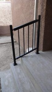 Short step railing