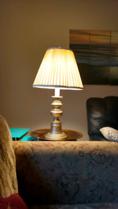 Lamps and table  chair side sofa .