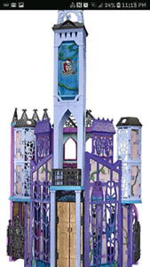 Monster high dolls school castle only 25$