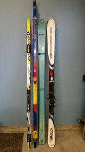 Downhill/crosscountry nordic skis