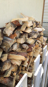 Split seasoned fire wood