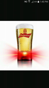 Budweiser goal glass