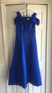 Blue full length dress
