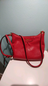 Red leather Coach crosabody