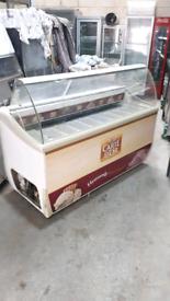 9 pan Icecream Scoop display freezer