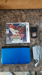 Nintendo 3ds XL System With Charger And Pokemon Y Game!