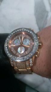 His & Hers Matching 15.60cts Aqua Master Diamond Watches Rolex