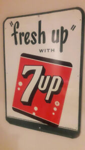 """SOLD1960s """"Fresh up"""" with 7up sign *Excellent condition"""