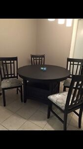 Restored kitchen table + 4 chairs