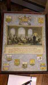 Old Father's Of Confederation Print Belleville Belleville Area image 2