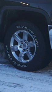 Brand New 2018 sierra tires and rims