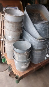 Galvanized tubs and pails