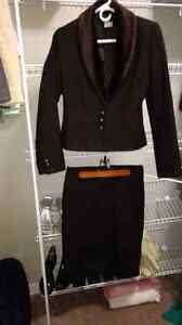 Suzy Brown Skirt and Suit jacket