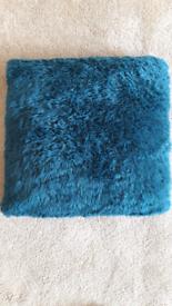 Next Large Fur Teal Cushion