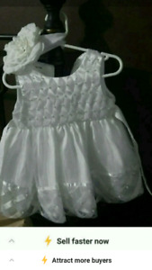 Baptism Dress with Headband