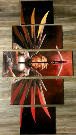 Gaming Overwatch mercy character set of 5 canvas