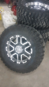 """33 """"Mickey Thompsons with Ion alloys rims"""