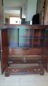 Solid wood cabinet with drawers