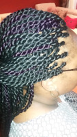 Neat box braids, twists, crochet, conrows and weaves