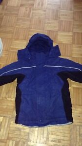 ASSORTED WINTER COATS, jackets, snowpants,sweaters, skates