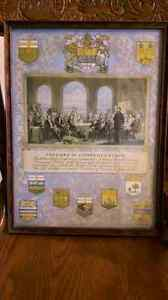 Old Father's Of Confederation Print Belleville Belleville Area image 1