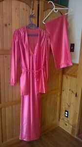 Ladies 3 Piece Satin Nightgown, Pants and Jacket