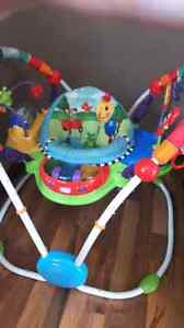 Baby jumper play station