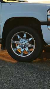 20x10 Fuel Octane Rims with Michelin A/T Tires.