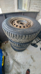 Nokian Hakkapelita winter tires 235 70 R16 with rims 5x114.3