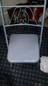 Metal chair fold up