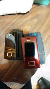 Lg chocolate phone with leather case