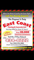 East Coast Paving Spring sale (save on paving now)