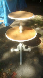 antique 2 layer table; antique Mag. table; hall/side table;