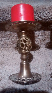 Fancy Brass Candle Holders Kitchener / Waterloo Kitchener Area image 2