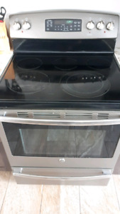 4 yr old GE glass top range and dual oven