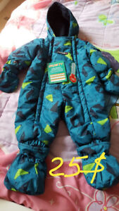 Two snowsuits for 6-9 month babies ( for boys and girls)