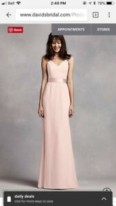 Stunning blush pink bridesmaids dress!!!